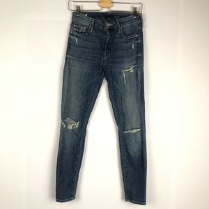 MOTHER Distressed The Looker crop Jeans size 27